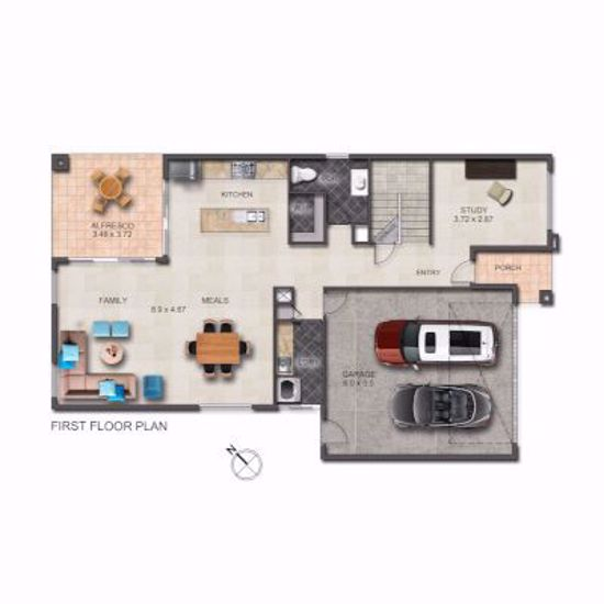 2D Floorplan Redrawn using customer supplied detailed plans