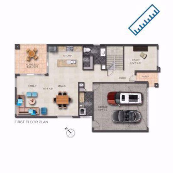 2D Textured Floorplan measured on-site