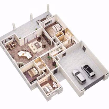 3D Coloured Floorplan redrawn