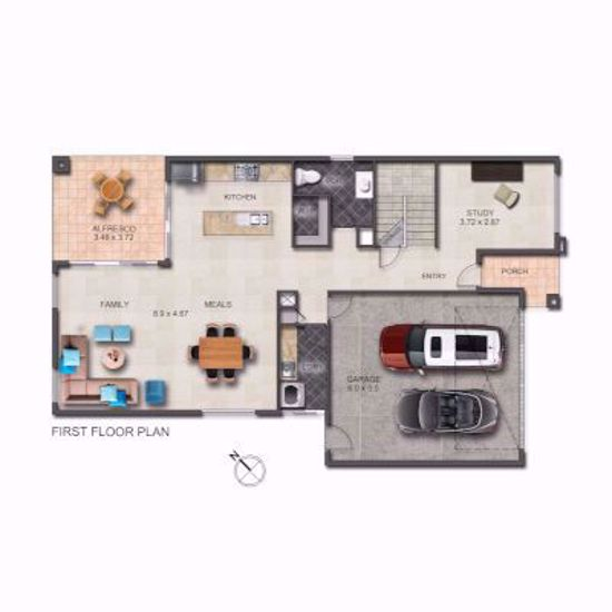 2D Floorplan Redrawn using customer supplied detailed plans